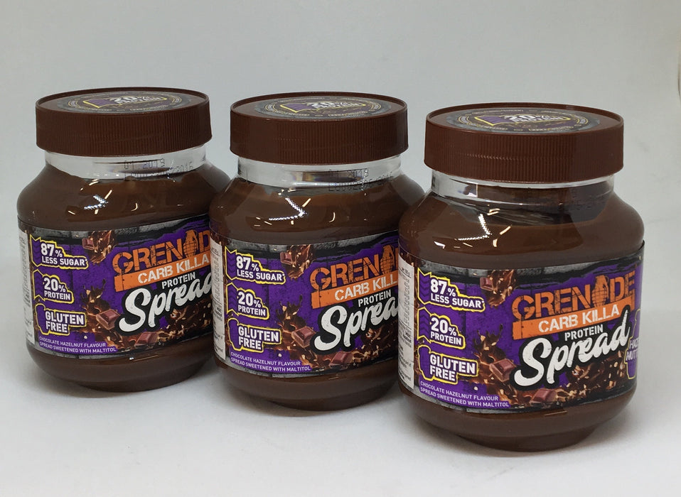 Grenade Hazel Nutter Carb Killa Protein Spread 360g - Case of 3 jars Multisave (Best Before 31/01/2019)