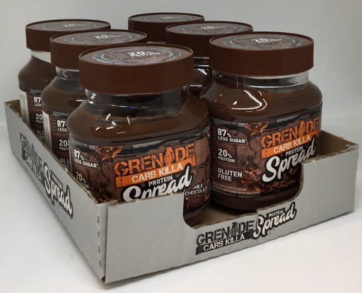 Grenade Milk Chocolate Carb Killa Protein Spread 360g - Case of 6 jars Multisave