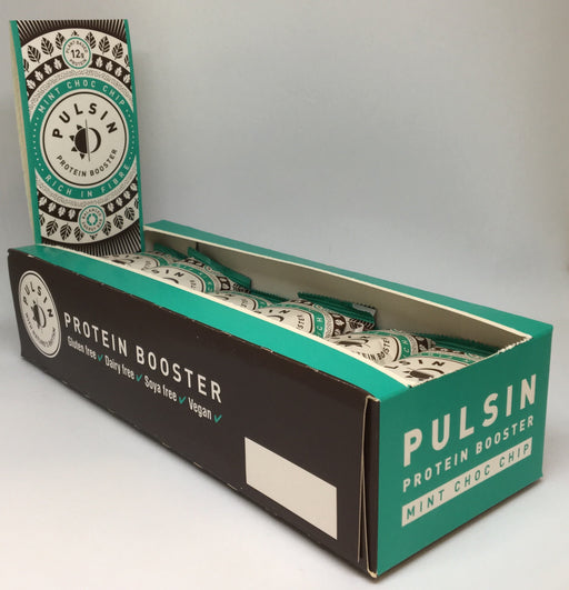 Pulsin Mint Choc Chip Protein Booster Bar 50g - Case of 18 bars Multisave