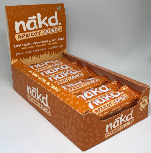 Nakd Apricot Crunch Bars 30g - Case of 18 bars Multisave (Naked)