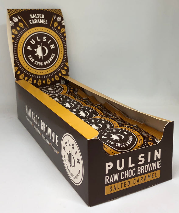 Pulsin Salted Caramel Raw Choc Brownie 50g - Case of 18 bars Multisave