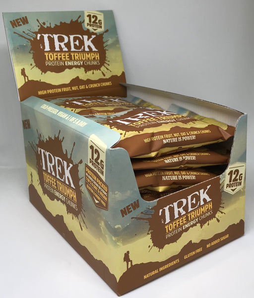 Trek Toffee Triumph Protein Energy Chunks 60g - Case of 14 packs Multisave