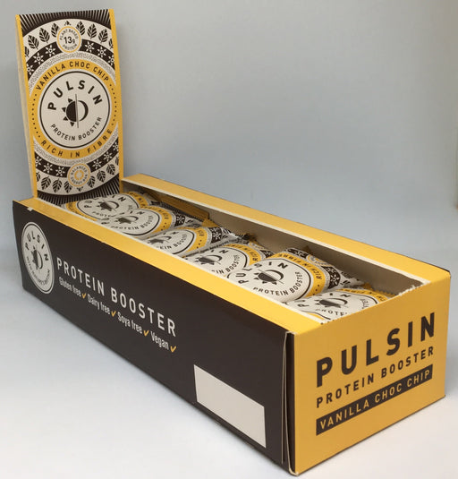 Pulsin Vanilla Choc Chip Protein Booster Bar 50g - Case of 18 bars Multisave