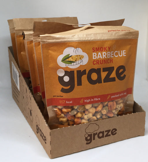 Graze Smoky Barbecue Crunch 104g - Case of 6 bags Multisave