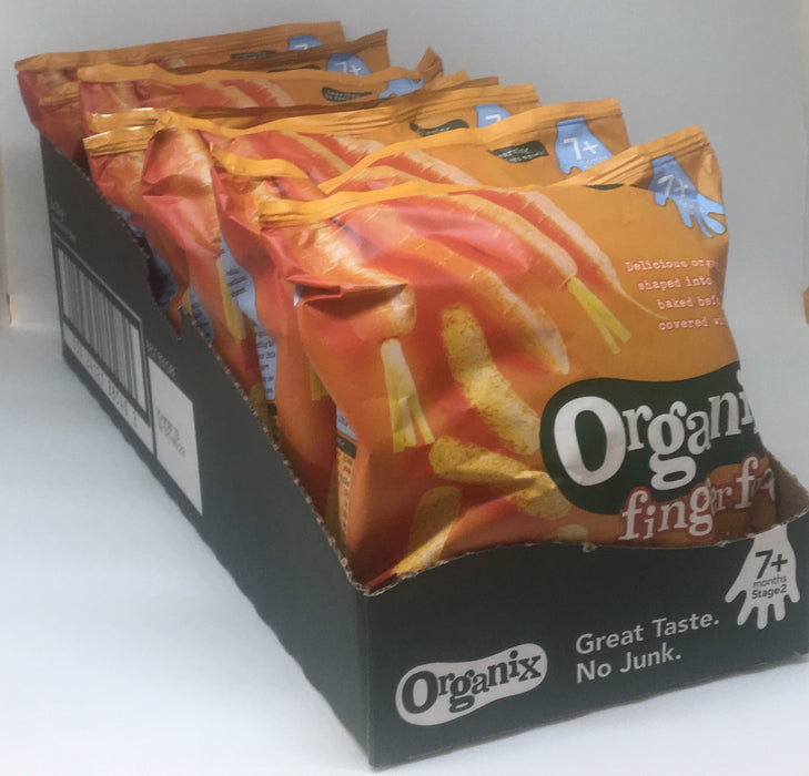Organix Carrot Sticks [7 months +] 20g - Case of 8 packs Multisave