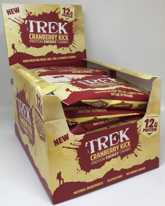 Trek Cranberry Kick Protein Energy Chunks 60g - Case of 14 Multisave (Best Before Date: 24/02/19)