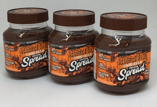 Grenade Jaffa Quake Carb Killa Protein Spread 360g - Case of 3 jars Multisave