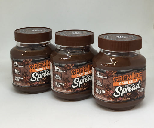 Grenade Milk Chocolate Carb Killa Protein Spread 360g - Case of 3 jars Multisave