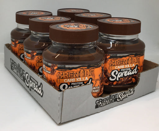Grenade Jaffa Quake Carb Killa Protein Spread 360g - Case of 6 jars Multisave