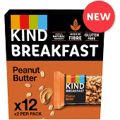 KIND Peanut Butter Breakfast Biscuit 50g (2 x 25g pack) - Case of 12 packs Multisave