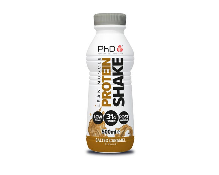 PhD Nutrition Salted Caramel Lean Muscle Protein Shake 500ml