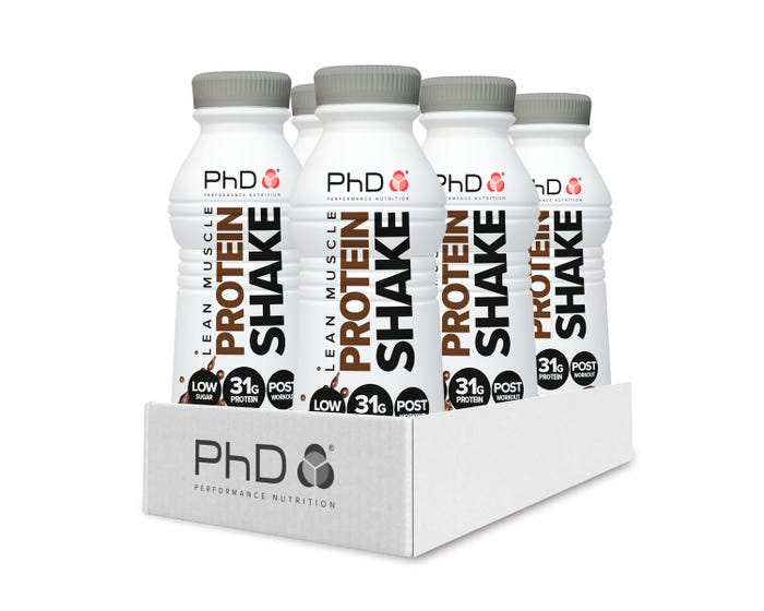 PhD Nutrition Chocolate Lean Muscle Protein Shake 500ml - Case of 6 Multisave