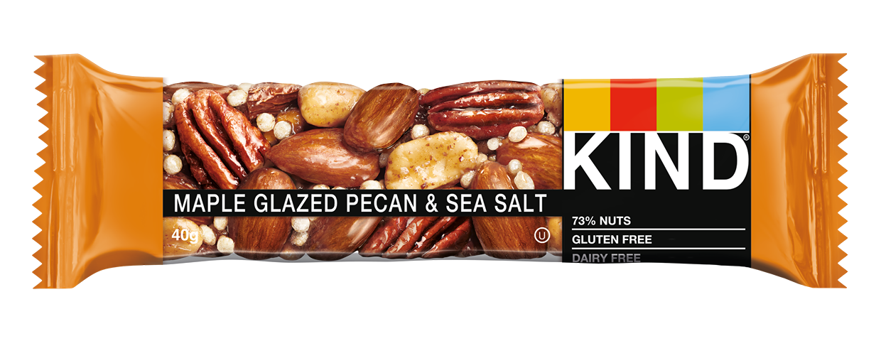 KIND Maple Glazed Pecan & Sea Salt nut bar 40g - Case of 12 Multisave (Best Before Date: 04/06/2021)