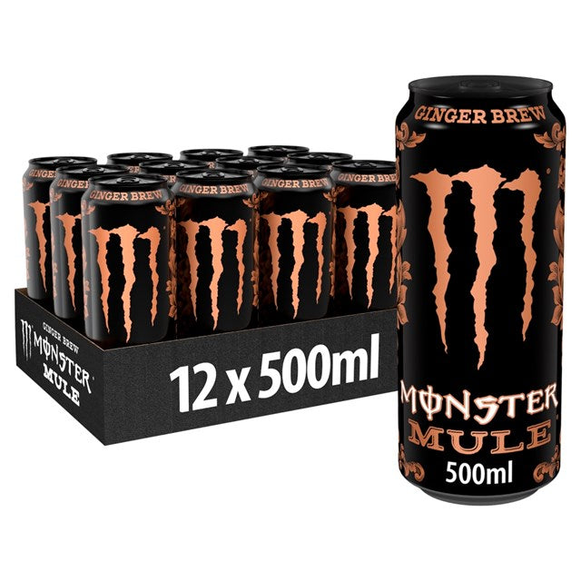 Monster Mule Ginger Brew Energy Drink 500ml - Case of 12 Multisave