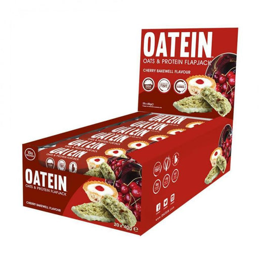 Oatein Cherry Bakewell Oats & Protein Flapjack 40g - Case of 20 Multisave