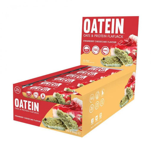 Oatein Strawberry Cheesecake Flavour Oats & Protein Flapjack 40g - Case of 20 Multisave