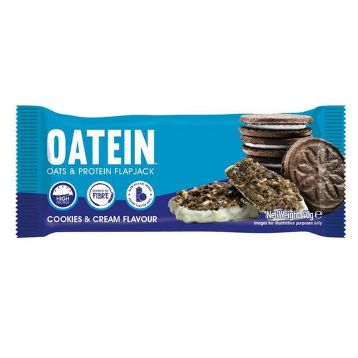 Oatein Cookies & Cream Flavour Oats & Protein Flapjack 40g