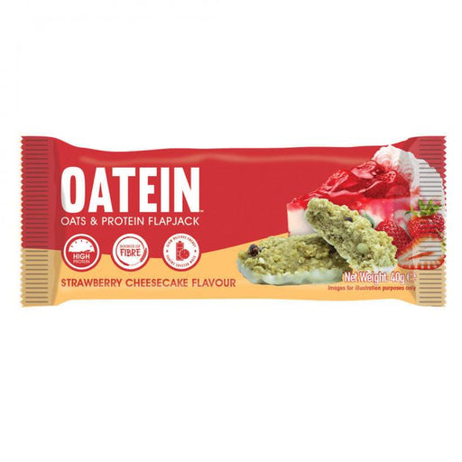 Oatein Strawberry Cheesecake Flavour Oats & Protein Flapjack 40g
