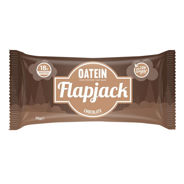 Oatein Chocolate Low Sugar Protein Flapjack 70g - Case of 12 Multisave