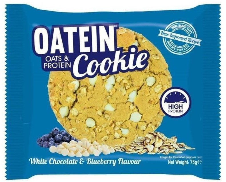 Oatein White Chocolate & Blueberry Protein Cookies 75g - Case of 12 Multisave
