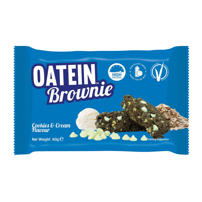Oatein Cookies & Cream flavour Protein Brownie 60g