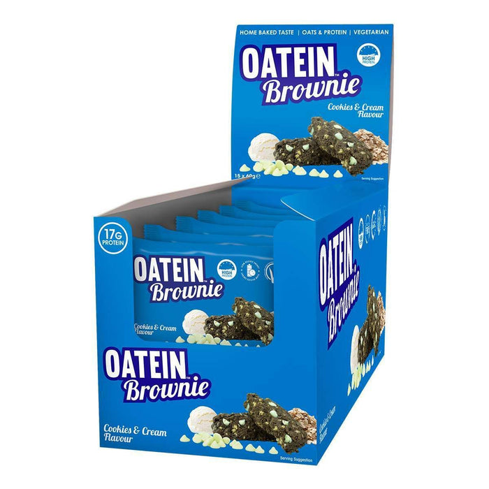 Oatein Cookies & Cream flavour Protein Brownie 60g - Case of 15 Multisave