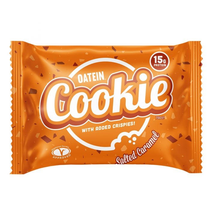 Oatein Salted Caramel Protein Cookies 75g - Case of 12 Multisave