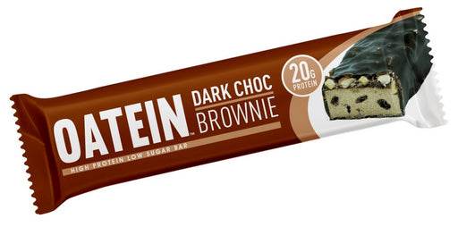 Oatein Dark Choc Brownie Low Sugar Protein Bar 60g (Best Before Date: 04/05/2019)