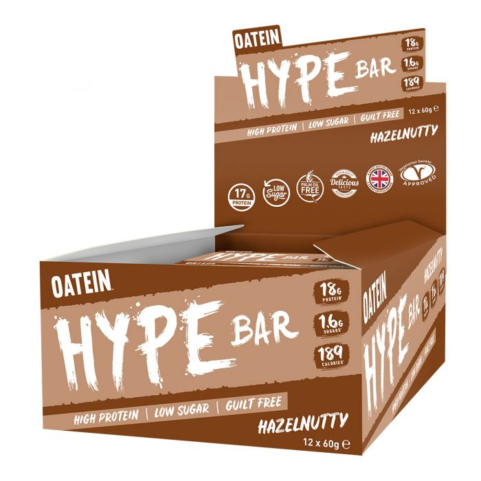 Oatein Hype protein bar, Hazelnutty flavour 60g - Case of 12 Multisave