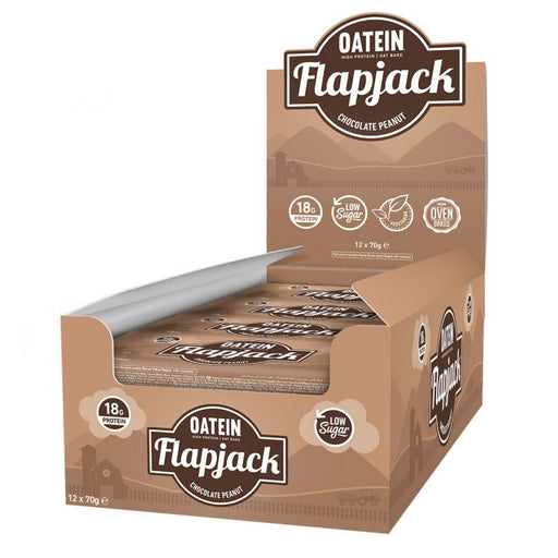 Oatein Chocolate Peanut Low Sugar Protein Flapjack 70g - Case of 12 Multisave