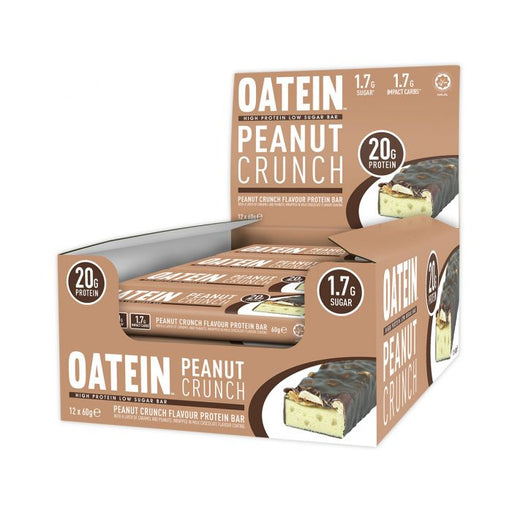 Oatein Peanut Crunch Low Sugar Protein Bar 60g - Case of 12 bars Multisave (Best Before Date: 12/05/2019)