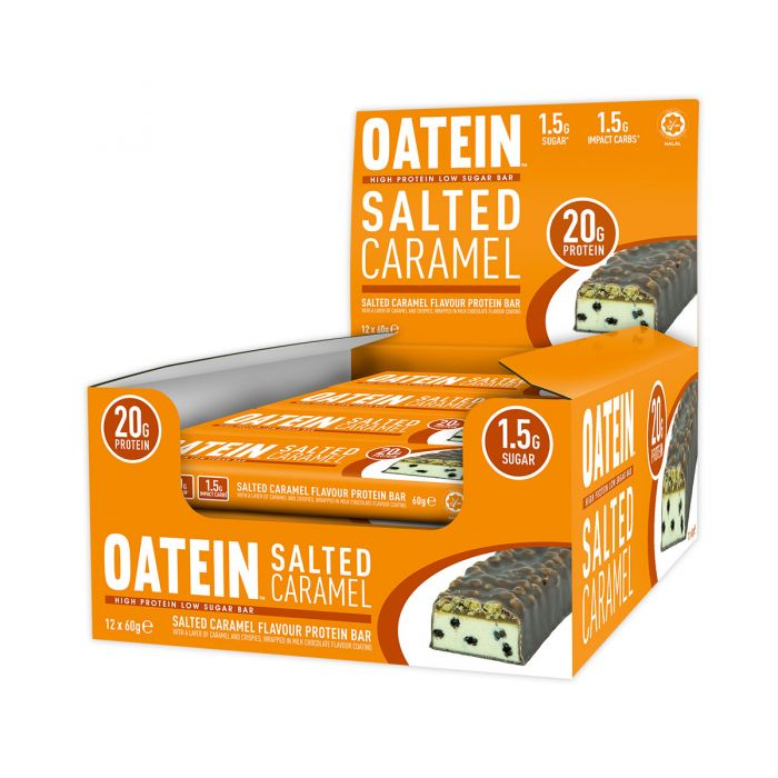 Oatein Salted Caramel Low Sugar Protein Bar 60g - Case of 12 bars Multisave (Best Before Date: 03/05/2019)