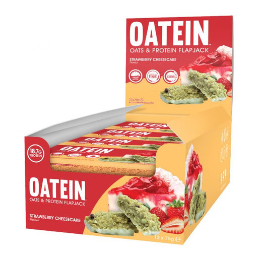 Oatein Strawberry Cheesecake Oats & Protein Flapjack 75g - Case of 12 Multisave