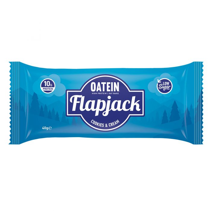 Oatein Cookies & Cream Protein Flapjack 40g - Case of 20 Multisave