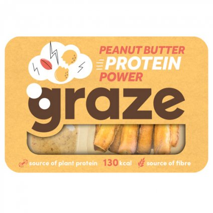 Graze Peanut Butter Protein Power Dipper 27g - Case of 9 packs Multisave (Best Before Date: 13/03/2019)