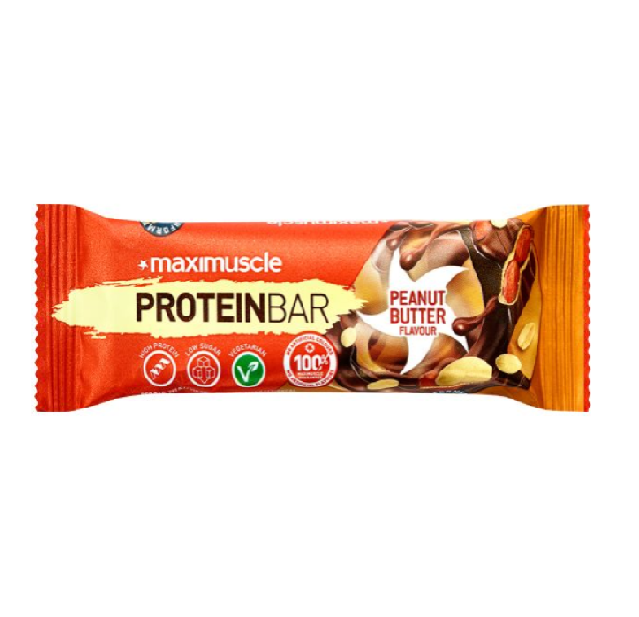 MaxiMuscle Peanut Butter Flavour Protein Bar 55g (Best Before Date: 28/02/2021)