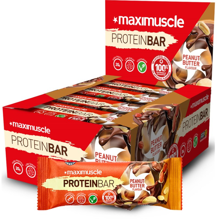 MaxiMuscle Peanut Butter Flavour Protein Bar 55g - Case of 12 Multisave