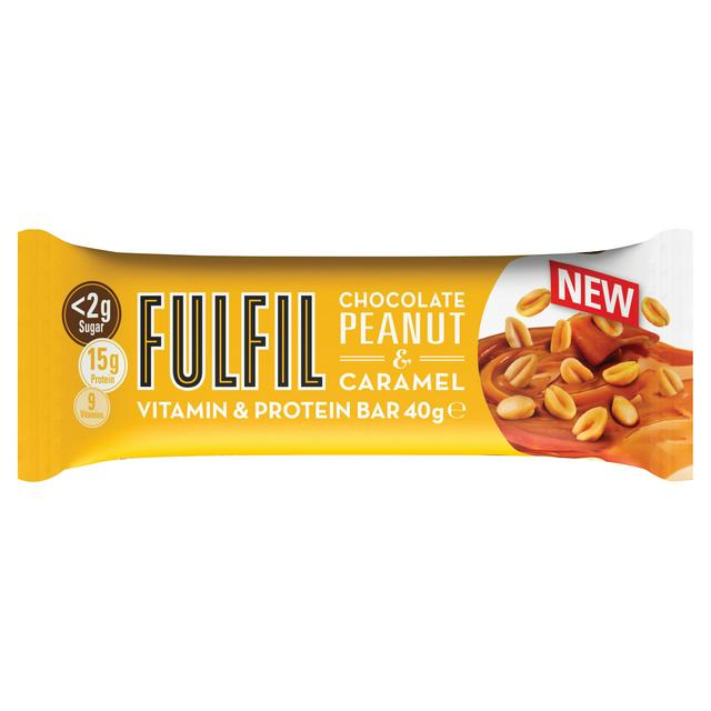 Fulfil Chocolate Peanut & Caramel Snack-Size Vitamin and Protein bar 40g - Case of 15 Multisave (Best Before Date: 24/12/2020)