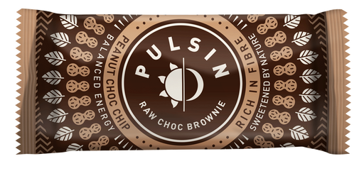 Pulsin Peanut Choc Chip Raw Choc Brownies 50g