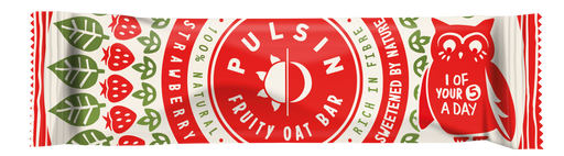 Pulsin Strawberry Kids Fruity Oat Bar 25g