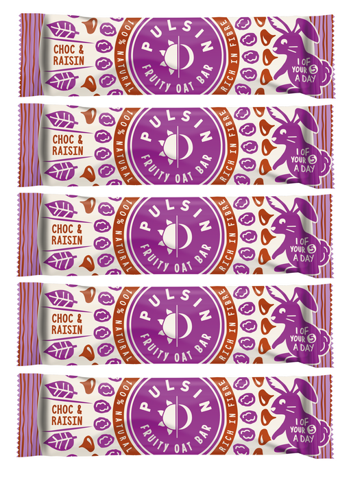Pulsin Choc Raisin Kids Fruity Oat bars (5 x 25g Multipack)