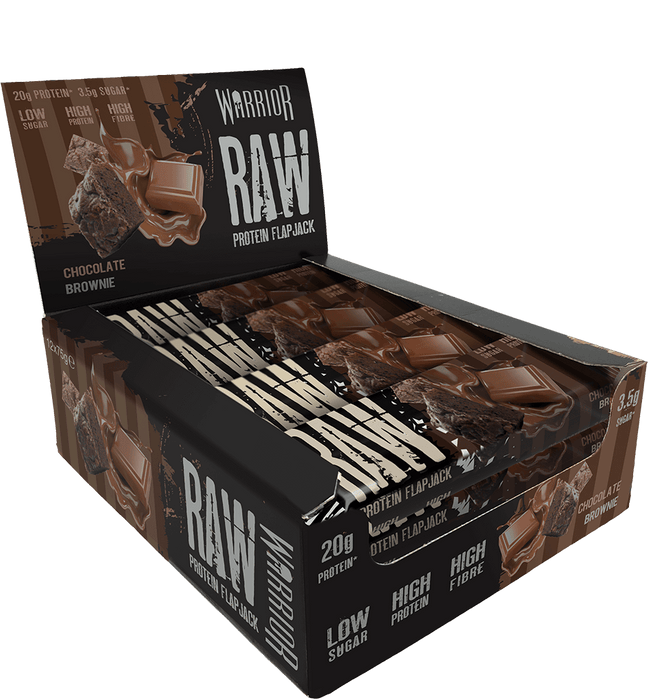 Warrior Raw Chocolate Brownie flavour Protein Flapjack 75g - Case of 12 Multisave