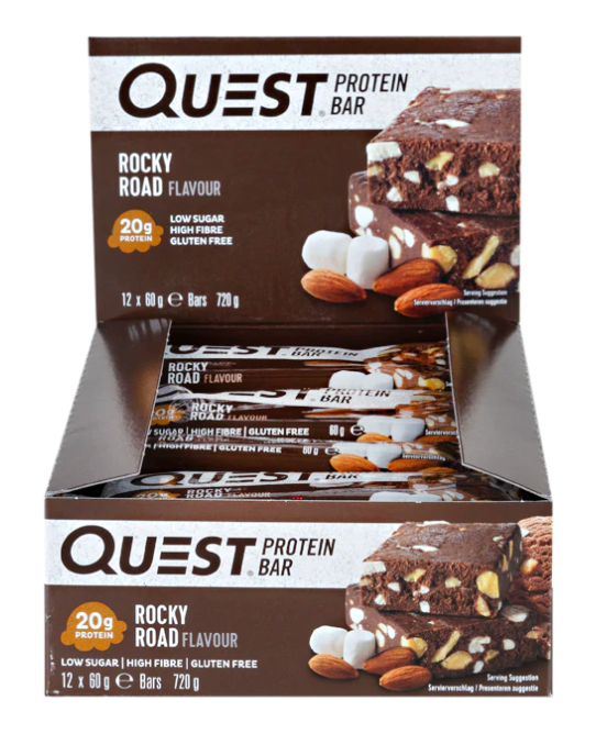 Quest Rocky Road Protein bar 60g - Case of 12 Multisave