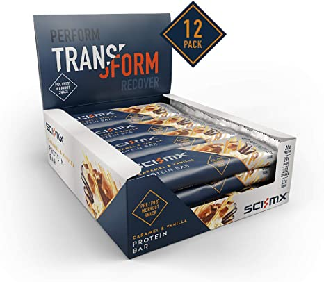 Sci-MX Caramel & Vanilla Protein Bar 60g - Case of 12 Multisave