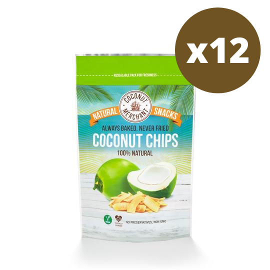 Coconut Merchant Coconut Snack Chips 40g - Case of 12 Multisave