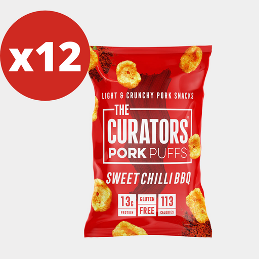 The Curators Sweet Chilli BBQ Pork Puffs 22g - 12 packs Multisave