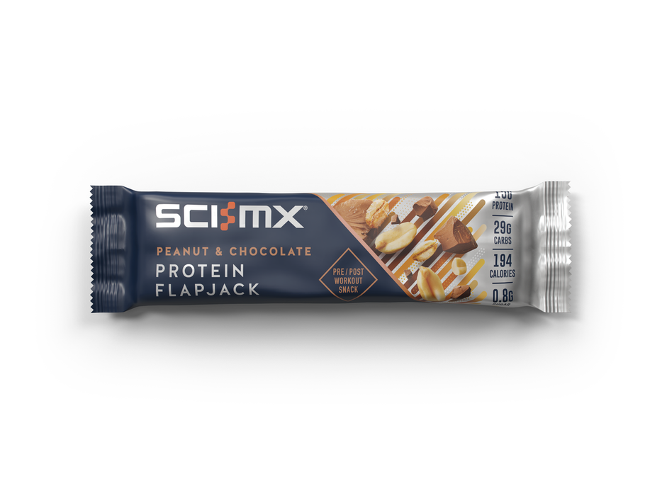 Sci-MX Peanut & Chocolate Protein Flapjack 60g - Case of 12 Multisave