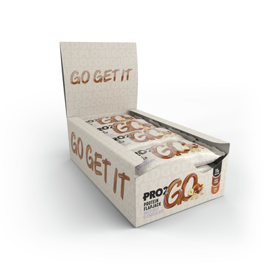 Pro2Go Hazelnut & Chocolate Protein Flapjack 50g - Case of 12 Multisave (Best Before Date: 14/11/2020)