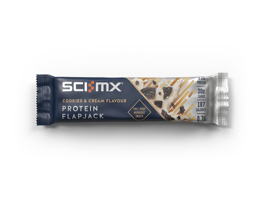 Sci-MX Cookies & Cream Protein Flapjack 60g - Case of 12 Multisave (Best Before Date: 31/12/2020)