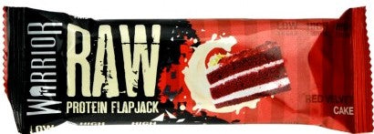 Warrior Raw Red Velvet Cake flavour Protein Flapjack 75g - Case of 12 Multisave